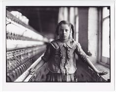 Lewis W. Hine 'Spinner Girl' Double Weight Photo from original Hine negative