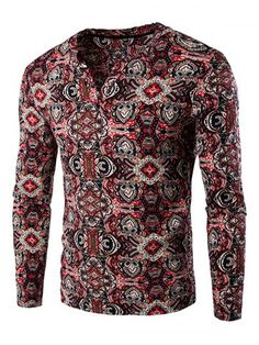 GET $50 NOW | Join RoseGal: Get YOUR $50 NOW!http://www.rosegal.com/men-s-long-sleeves/vintage-totem-print-long-sleeve-659084.html?seid=6611563rg659084