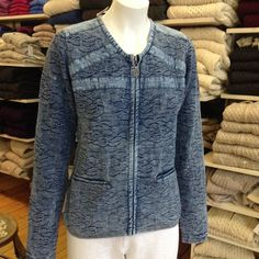 """Key West """"Waterville"""" Cotton Cardigan in our Dress Shop. Cotton Cardigan, Danish Design, Key West, Business Women, Denim, Lady, Womens Fashion, Sweaters, How To Wear"""