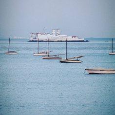 Looking out from Mumbai.  #India #Mumbai #port #film #craigfergusonimages