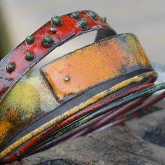 Enameled Bracelet Set - bullfinchbarbury