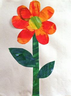 "Inspired by Eric Carle's ""The Tiny Seed""...could totally incorporate secondary colored painted papers for this one"