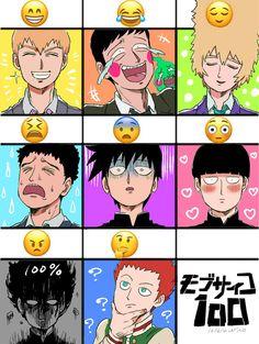 Mob Psycho 100 emoji