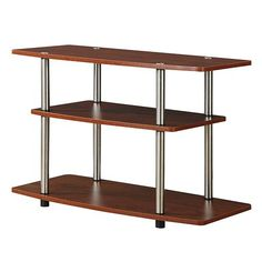 Designs2go Cherry Three-Tier TV Stand
