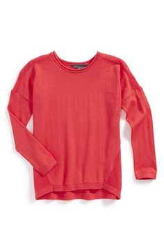 Girl's Vince Rack Stitch Sweater