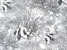 Fabri-Quilt - Paintbrush Studio 'Coral Sea'