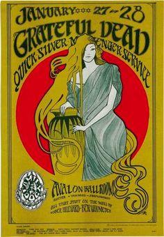 1/27-28/1967 .... Avalon Ballroom ..  Grateful Dead ..... Quicksilver Messenger Service .......... artists ..... STANLEY MOUSE ..... ALTON KELLEY