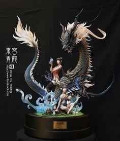 Azure-Dragon - Resin Kit - buy Model Kits for Model Masters Toy Art, Fantasy Creatures, Mythical Creatures, Dragons, Modelos 3d, Chinese Dragon, Dragon Art, Skyrim, Drake