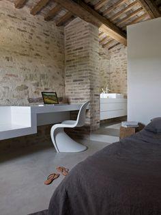 Wespi de Meuron. Stone house renovation in Treia. Italy