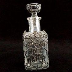 Victorian Filigree Holy Water Bottle from vintagecatholic on Ruby Lane
