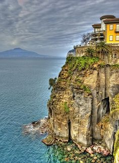 Sorrento, Italy You climb down the wall of stairs to take a boat to Capri. Sorrento, Italy You climb down the wall of stair. Places Around The World, Oh The Places You'll Go, Great Places, Places To Travel, Beautiful Places, Places To Visit, Positano, Sorrento Amalfi, Amalfi Coast