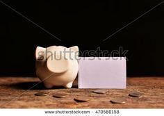 piggy bank with money on black background. Concept big dream