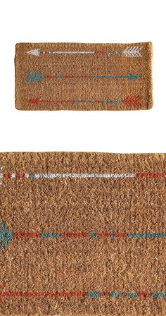 Searching for a durable doormat? Let us point you in the right direction! This arrow-printed design is made of coir fabric, which is a natural fiber made from coconuts. Water-resistant and highly resil...  Find the Follow the Arrow Doormat, as seen in the Rustic Outdoor Living Boutique Collection at http://dotandbo.com/collections/rustic-outdoor-living-boutique?utm_source=pinterest&utm_medium=organic&db_sku=118633
