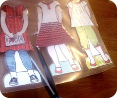Lily & Thistle: Tutorial: How to Laminate and Add Velcro or Magnets to Your Paper Doll