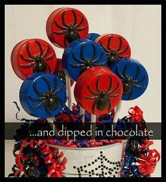 And Dipped in Chocolate added 3 new photos to the album: Spider-Man/Princess birthday. Chocolate Covered Treats, Chocolate Dipped Oreos, Chocolate Lollipops, Avengers Birthday, Superhero Birthday Party, 4th Birthday Parties, Man Birthday, Birthday Ideas, Oreo Cookie Pops