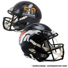 Von Miller Denver Broncos Fanatics Authentic Autographed Riddell Super Bowl  50 Champions Replica Helmet with
