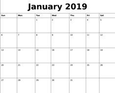 2019 Monthly Calendar With Us Holidays English Pinterest