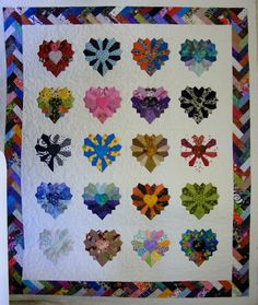 6 Ave Quilting: Dresden Hearts -- different way to do Dresden plates.