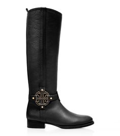 Tory Burch Amanda Tall Flat Riding Boots BLACK  Leather SZ 5.5 NEW