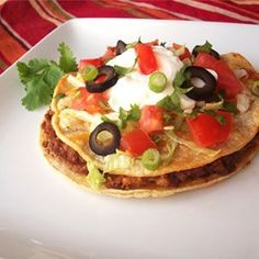 "Mexican Pizza I | ""Excellent. I baked the tortillas flat in the oven at 375 for 12 minutes instead of deep frying."""