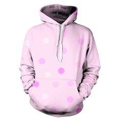 Pastel Polka Dots Hoodie pullover sublimation YO PRNT