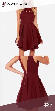 Burgundy L'atiste Dress from Lulu's Great for formal events, color and size true Lulu's Dresses Mini