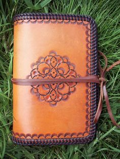 Hand-Tooled Leather Personal Organiser