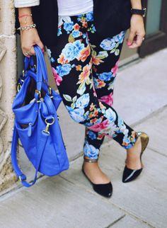 floral leggings for fall