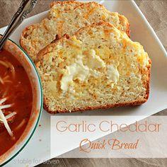 Garlic Cheddar Quick Bread • Table for Seven