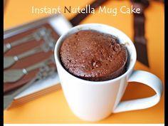 2 Minute Nutella Mug Cake. if we had Nutella Mug Recipes, Nutella Recipes, Easy Cake Recipes, Sweet Recipes, Dessert Recipes, Mug Cakes, Cake Mug, Cupcake Cakes, Just Desserts