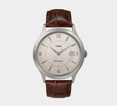 Timex for J.Crew 1600 - added this beautifuly simple watch to my collection today :P Simple Watches, Cool Watches, Clothing Staples, Best Watches For Men, Sharp Dressed Man, Men Dress, My Style, Men Clothes, Roman Numerals