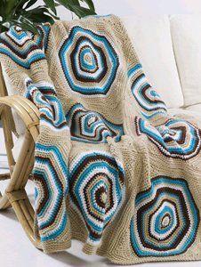 Crochet Retro Circle Afghan