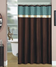 Take a look at this Blue & Brown Regalia Shower Curtain by Beatrice Home on #zulily today!