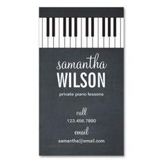Tarjeta de visita del profesor de piano                                                                                                                                                     Más