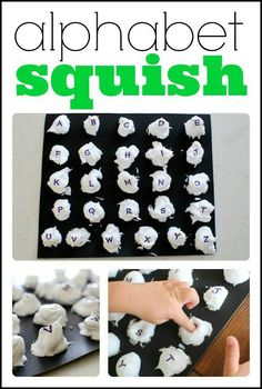 This alphabet squish activity is the perfect sensory and tactile experience for little ones learning their letters! Just a few household ingredients needed!