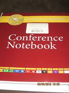 Brand New! 100 Book Challenge Conference Notebook for Teachers