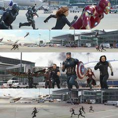 Team Iron Man against Team Cap, Captain America Civil War