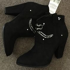 ZARA STUDDED ANKLE BOOTS ZARA TRAFALUC STUDDED ANKLE BOOTS.  Heel Height - 3 3/4 Inches. Platform Height - 1/4 Inches. Shaft Height - 5 Inches. Shaft Width - 12 Inches. Pull On Suede Boots. New with tags. No box. Smoke free household Zara Shoes Ankle Boots & Booties