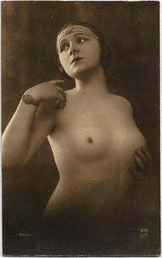 1920s ORIGINAL J. Mandel RPPC  / Erotic Nude Sexy