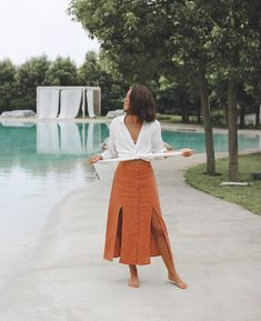 Skirt Outfits, Chic Outfits, Simple Outfits, Summer Outfits, Honeymoon Outfits, Casual Chic Style, Simple Style, Textiles, College Outfits