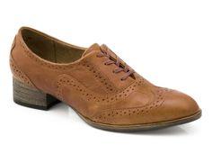 J SHOES - Retreat - Cognac Tan Leather Oxford sits on a short heel Women Shoe J Shoes, Oxford Shoes, Dress Shoes, Short Heels, Tan Leather, Lace Up, Best Deals, Shopping, Mary