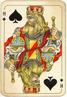 Dutch playing cards from 1920-1927: King of Spades by Michiel2005