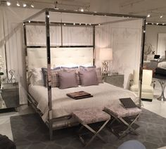 bailey charcoal full-size canopy bed framei love living