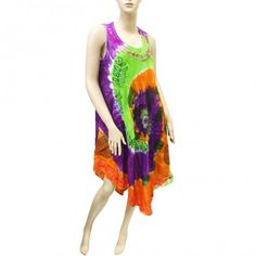 Embroidered Tie Dye Dress 10018 (6 Pcs)