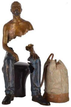 BRUNO CATALANO Raphaël Bronze original 30 exemplaires 41 x 27.5 x 25.5 cm