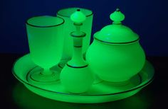 A baccarat liqueur set for use with Absinthe from 1830-1860