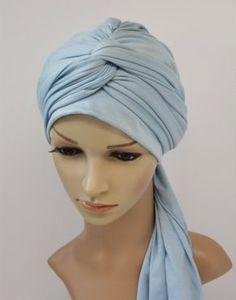 Volume head wear, bad hair day scarf, turban snood with long ends, full head covering, elegant hair wrap, head wrap, turban hat by accessoriesbyrita on Etsy