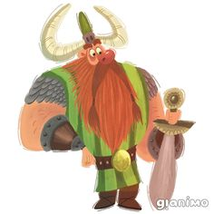 Ririk Redbeard - Big bearded, big-hearted and generally big all over, Rurik Redbeard rules the Crotchety Clan of Vikings. Famous throughout the land for his sword skills and breakfast eating ability, Rurik spends most of his day trying to keep his son Knut in one piece.