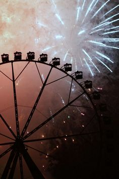 Being on a Ferris wheel while fireworks go off. I wanna do that so bad