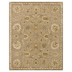 Robert French Country Beige Latte Vine Wool Rug - 3'6x5'6 | Kathy Kuo Home